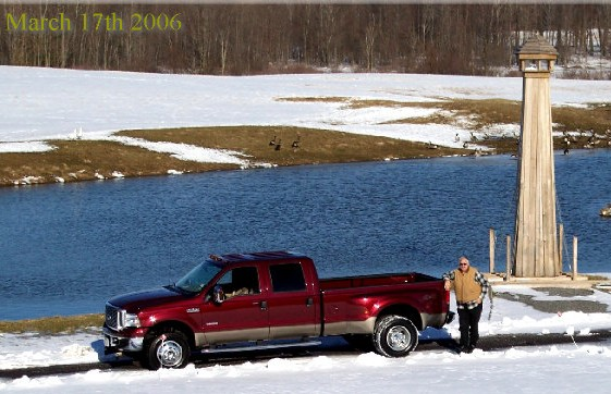The New Truck - 2006 Ford Dually. Darrell Cooking breakfast in Alex Bay,NY